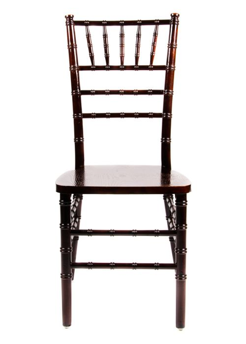 fruitwood espresso wood stacking chiavari chair the