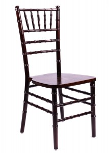 Fruitwood Espresso Wood Stacking Chiavari Chair