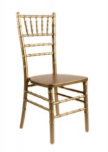 Gold Wood Stacking Chiavari Chair