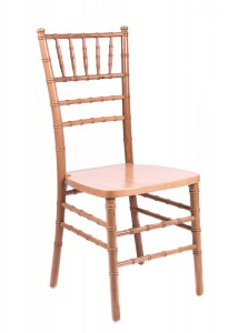 Natural Wood Stacking Chiavari Chair