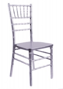 Silver Wood Stacking Chiavari Chair