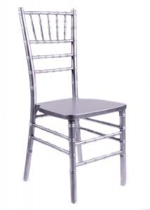 Silver Wood Stacking Chiavari Chair
