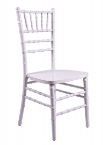 White Wood Stacking Chiavari Chair