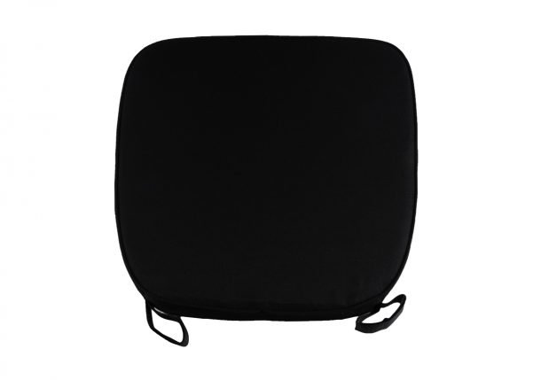 "2"" Black ""High Density"" Velcro Strap Chiavari Chair Cushion"
