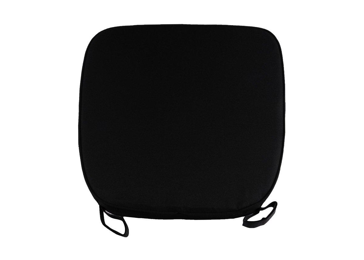 Black chair cushion -