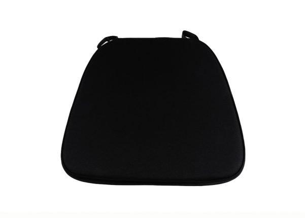 """2"""" Black """"High Density"""" Velcro Strap Chiavari Chair Cushion"""