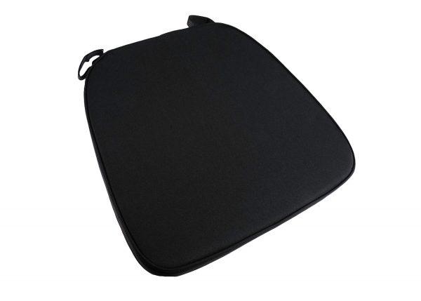 Chiavari Cushion Black w Velcro Strap