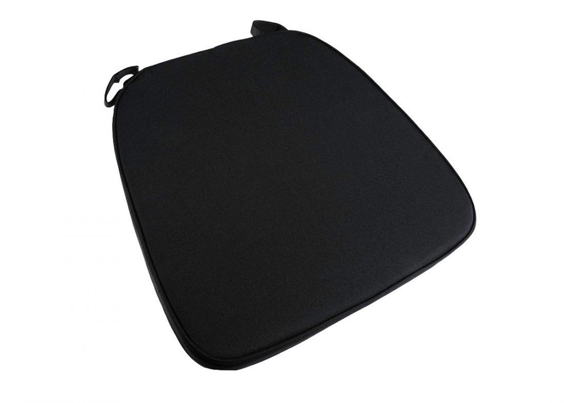 black extra thick chiavari chair cushion