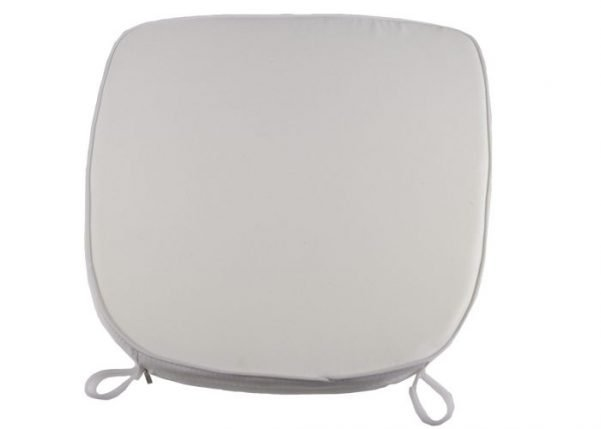 "2"" White ""High Density"" Velcro Strap Chiavari Chair Cushion"