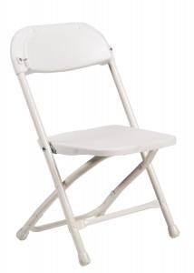 Samson Series White Plastic Children's Folding Chair