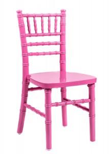 Pink Wood Children's Chiavari Chair