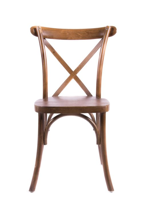 Walnut Wood Cross Back Chair