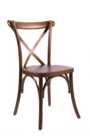 Walnut Wood Cross Back Chair