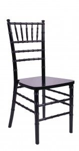 Black Wood Stacking Chiavari Chair Side