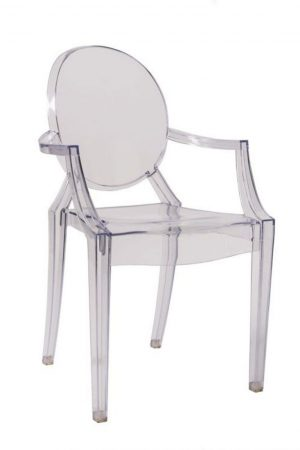 "Clear Resin ""Louis"" Ghost Chair"