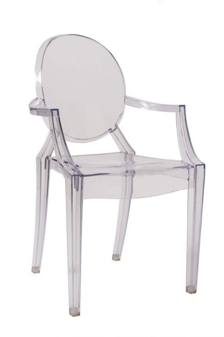 louis ghost chair with arms the chiavari chair company. Black Bedroom Furniture Sets. Home Design Ideas