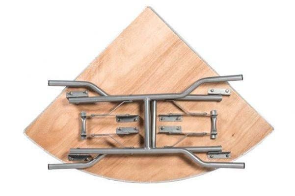"60"" Quarter Round ""Heavy Duty"" Plywood Banquaet Table, Metal Edge"
