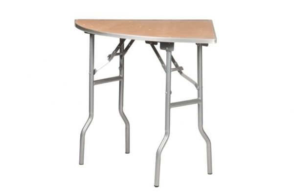 "60"" Quarter Round ""Heavy Duty"" Plywood Banquaet Table, Metal Edge"