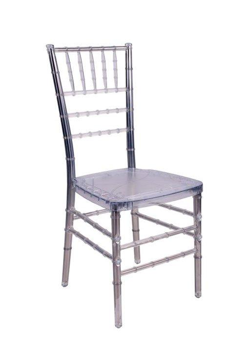 "Clear Resin ""Steel-Core"" Chiavari Chair"