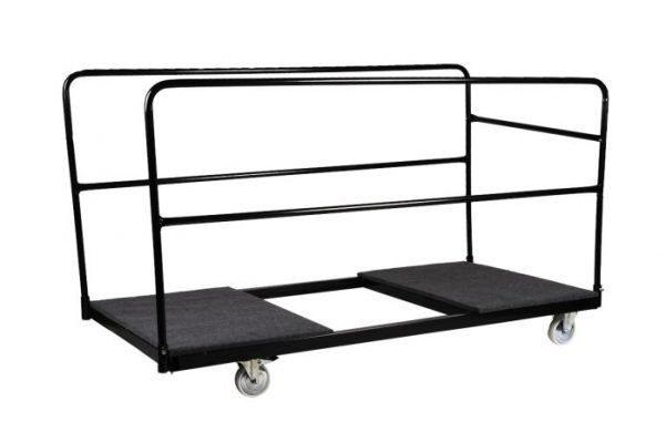 "Extra Large (36"" Wide) Steel Cart for Banquet Tables"