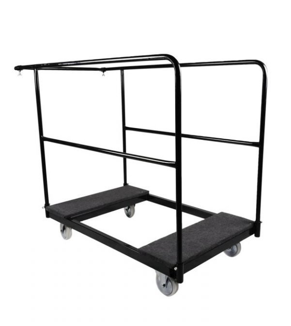 "Standard Size (28"" Wide) Steel Cart for Banquet Tables"