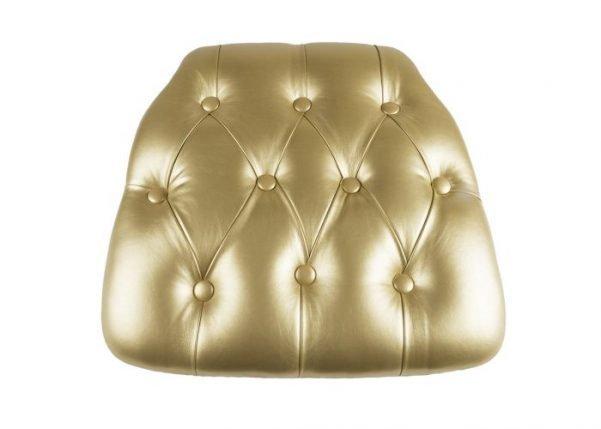 Gold Vinyl Wood Base Tufted Chiavari Chair Cushion