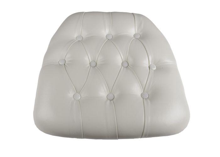 White Vinyl Wood Base Tufted Chiavari Chair Cushion The Chiavari