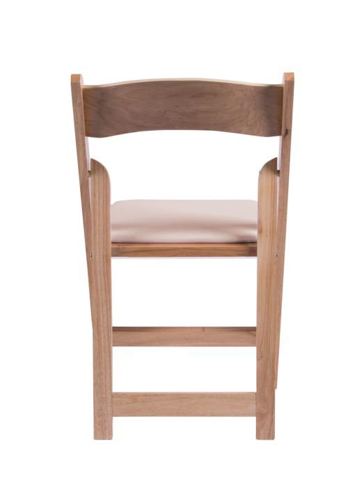 natural wood folding chair with tan seat2