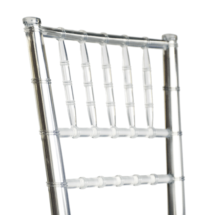 "Clear Resin ""Steel-Core"" Chiavari Barstool"