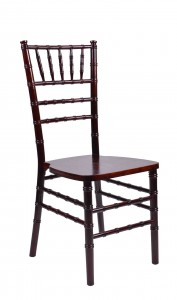 Fruitwood Medium Wood Stacking Chiavari Chair