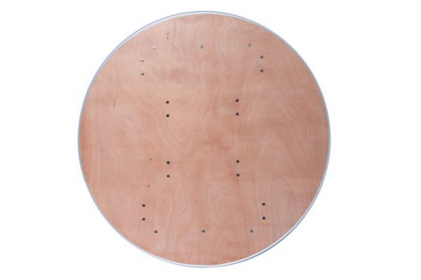 "48"" Round ""Heavy Duty"" Plywood Banquet Table with Metal Edge"