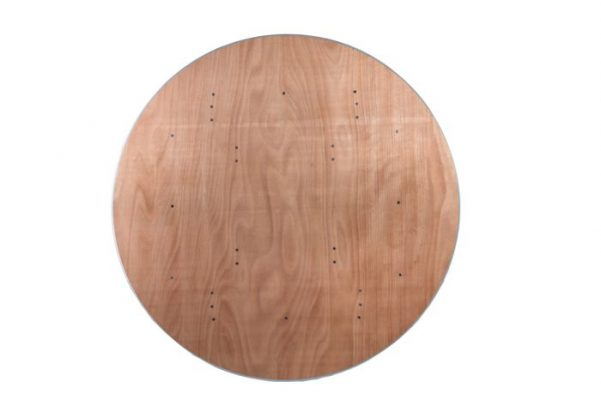 """66"""" Round """"Heavy Duty"""" Plywood Banquet Table with Metal Edge"""