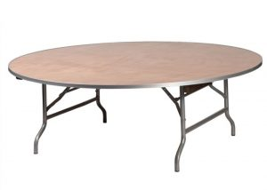 """48"""" Round Children's Plywood Banquet Table with Metal Edge"""