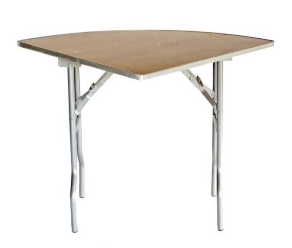 "60"" Quarter Round ""Heavy Duty"" Plywood Banquet Table, Metal Edge"