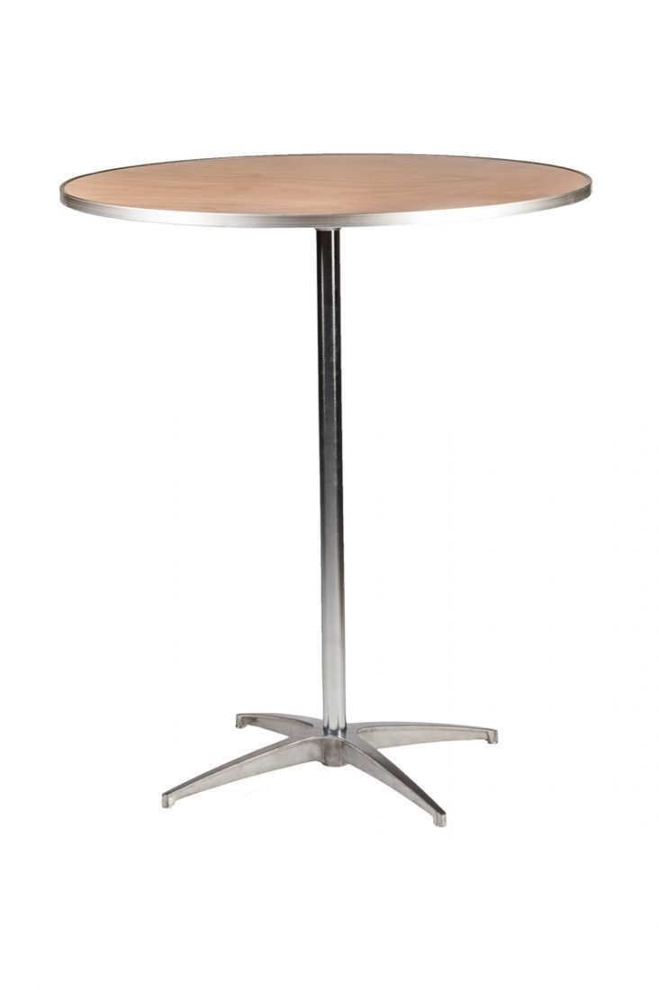 36 round plywood cocktail table top the chiavari chair for Cocktail tables