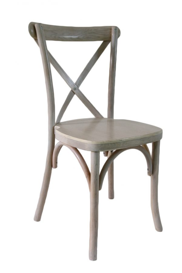 Driftwood Wood Cross Back Chair
