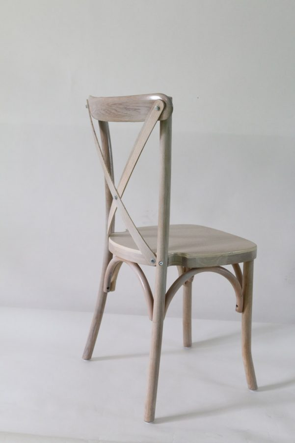 Driftwood Wood Cross Back Chair - Front