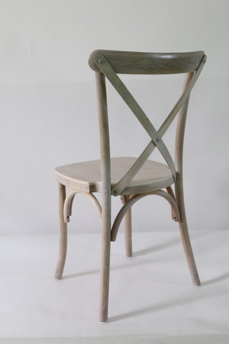 ... Driftwood Wood Cross Back Chair   Front ...
