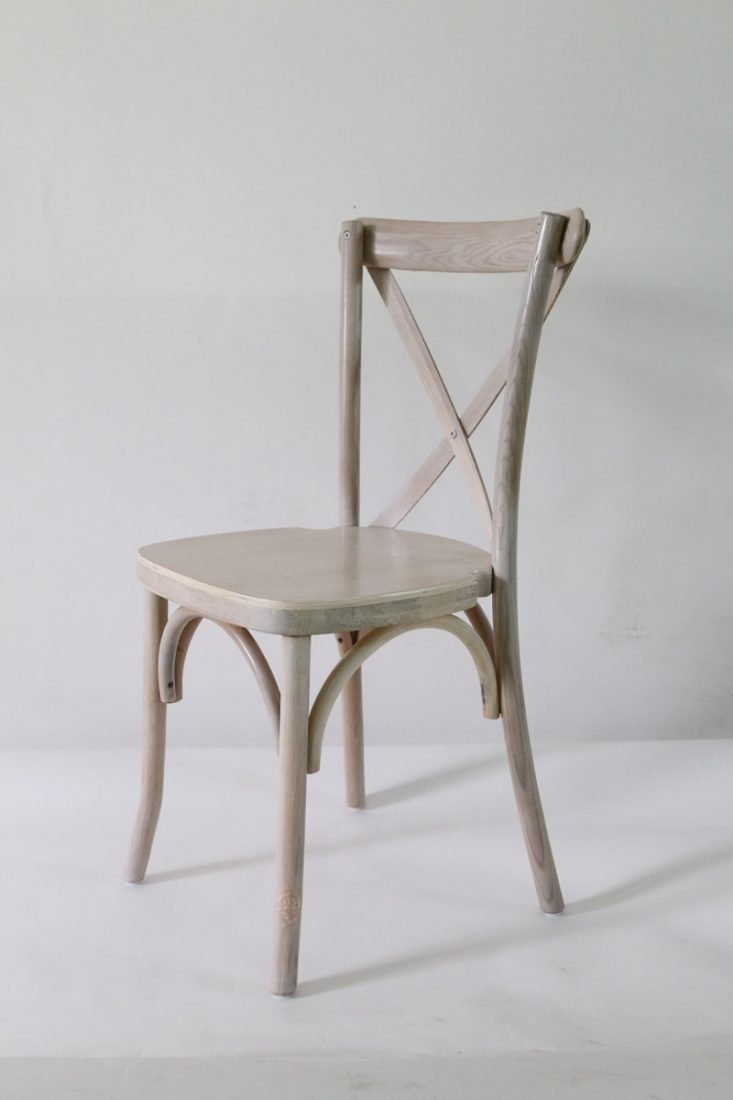 Driftwood Wood Cross Back Chair   Front