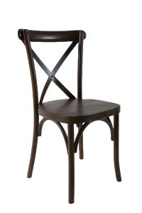 Espresso Wood Cross Back Chair