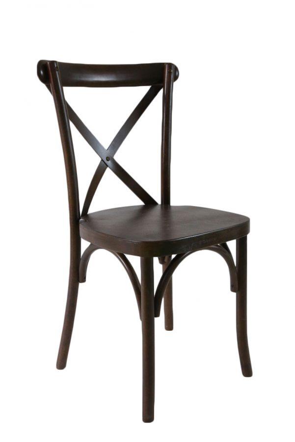Espresso Wood Cross Back Chair