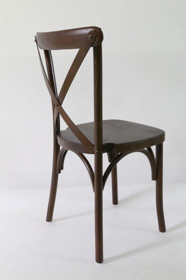 Superieur Espresso Wood Cross Back Chair Front