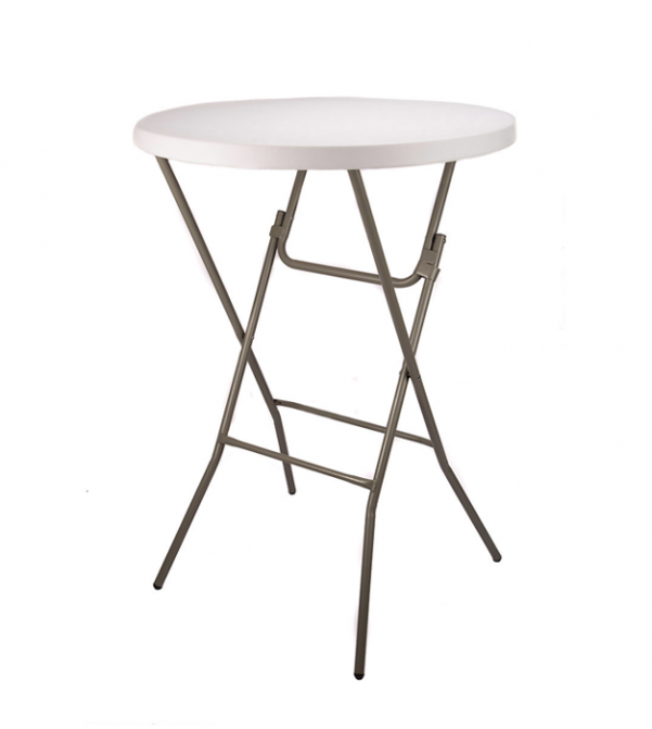 "32"" Plastic Cocktail Folding Table"