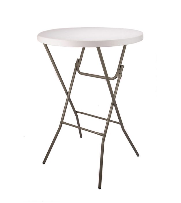 32 Round Plastic Cocktail Folding Table
