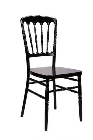 "Black Resin ""Inner Steel-Core"" Napoleon Chair"