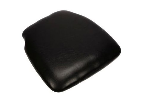 Black Vinyl Wood Base Chiavari Chair Cushion