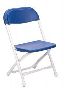 Blue Plastic Children's Folding Chair
