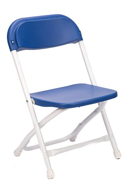 Blue Plastic Children's Folding Chair