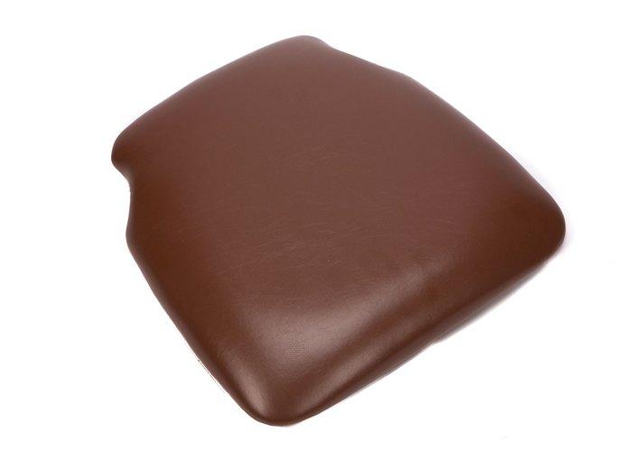 Brown Vinyl Wood Base Chiavari Chair Cushion