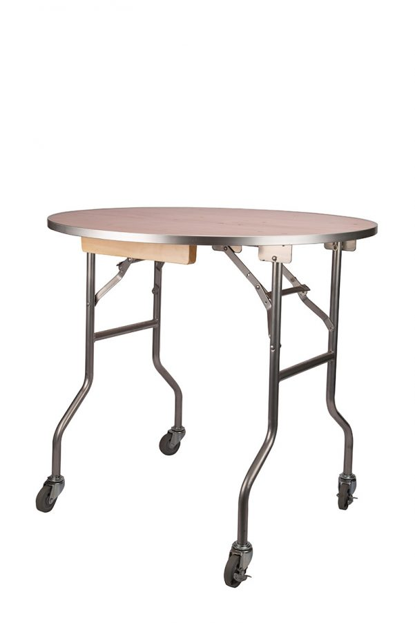4 Wheel Caster Set to Convert Banquet Table into Rolling Cake Table